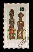 REPUBLIQUE DU BURUNDI - CIRCA 1981: A stamp printed in the REPUBLIQUE DU BURUNDI, shows figurine, circa 1981 — Stock Photo
