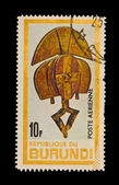 REPUBLIQUE DU BURUNDI - CIRCA 1981: A stamp printed in the REPUBLIQUE DU BURUNDI , shows figurine, circa 1981 — 图库照片