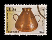Cuba - CIRCA 1980: A stamp printed in the Cuba , shows Cobres Hispanocubanos, circa 1980 — Stock Photo