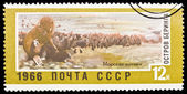USSR - CIRCA 1966: A stamp printed in the USSR — Stok fotoğraf