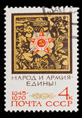 USSR - CIRCA 1970: A stamp printed in the USSR, people and army indivisible 1945-1970, circa 1970 — Stock Photo