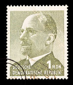 FEDERAL REPUBLIC OF GERMANY - CIRCA 1969: A stamp printed in the Federal Republic of Germany shows Walter Ulbricht, First Secretary of the Socialist Unity Party from 1950 to 1971, circa 1969 — Stock Photo