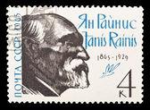 USSR - CIRCA 1965: A stamp printed in the USSR, shows Yan Rainis (janis Rainis), 1865-1929, circa 1965 — Stock Photo