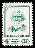 ZSRR - około 1968: znaczek wydrukowany w ZSRR, pokazuje i.s. Turgieniew, około 1968 — Zdjęcie stockowe