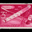 USSR - CIRCA 1969: A stamp printed in the USSR, shows Aviamodelling sports,   circa 1969 — Lizenzfreies Foto