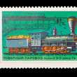 USSR - CIRC1978: stamp printed in USSR, shows Commodity steam locomotive 0-3-0 seriGv-1863-67, circ1978 — Stock Photo #28015747