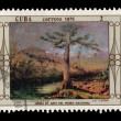 CUBA - CIRCA 1975: A stamp printed in the CUBA, shows Obras de arte del museo national Henry cleenewerk la ceiba, circa 1975 — Stock Photo #28017055