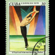 CUBA - CIRCA 1976: A stamp printed in the CUBA, shows V Festival Internacional de Ballet,  circa 1976 — Stockfoto