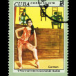 CUBA - CIRCA 1976: A stamp printed in the CUBA, shows V Festival International de Ballet, circa 1976 — Stock Photo