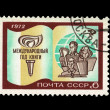 USSR - CIRCA 1972: A stamp printed in the USSR shows The international year of the book, circa 1972 — Stock Photo