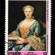 CUBA - CIRCA 1976: A stamp printed in the CUBA, shows Retrato de Mujer Louis Michel Van Loo,  circa 1976 — Lizenzfreies Foto