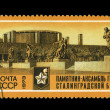 USSR - CIRCA 1973: A stamp printed in the USSR shows Monument-ensemble to heroes of Stalingradsky fight, circa 1973 — Stock Photo