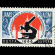 USSR - CIRCA 1966: A stamp printed in the USSR shows The interna — Stock Photo