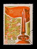 Udssr - circa 1969: eine briefmarke in der udssr gedruckt, zeigt 25 jahre clearing von belarus, circa 1969 — Stockfoto