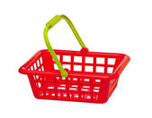 Basket for purchases on the white — Stock Photo