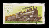USSR - CIRCA 1978: A stamp printed in the USSR, shows Commodity steam locomotive 1-4-0 seria ZH-1912, circa 1978 — Stock Photo