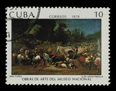 CUBA - CIRCA 1979: A stamp printed in the CUBA, shows Obras de arte del museo national Una Capea E.de Lucas Padilla, circa 1979 — Stock Photo