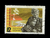 USSR - CIRCA 1965: A stamp printed in the USSR shows Ballad about the soldier, circa 1965 — Foto Stock