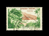 Republique Francaises - CIRCA 1967: Stamps printed in Republique Francaises shows Riviere sens, circa 1967 — Stock Photo