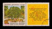 USSR - CIRCA 1970: A stamp printed in the USSR, shows Friendship tree, Sochi, circa 1970 — Stock Photo