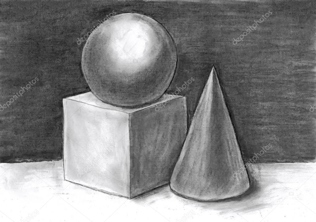 композиция из гипсовых фигур рисунок
