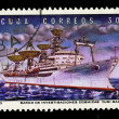 CUBA - CIRCA 1973: A stamp printed in the CUBA, shows Barco de invebtigaciones cosmicas Yuri Gagarin,  circa 1973 — Stock Photo