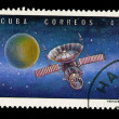 CUBA - CIRCA 1973: A stamp printed in the CUBA, shows Venus 7, circa 1973 — Stock Photo #28021335