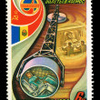 USSR - CIRCA 1981: A stamp printed in the USSR, shows international flights in space,  circa 1981 — ストック写真