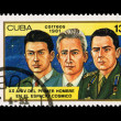 CUBA - CIRCA 1981: A stamp printed in the CUBA, shows XX ANIV DEL PRIMER HOMBRE EN EL ESPACIO COSMICO,  circa 1981 — Stockfoto