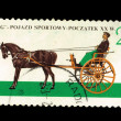 "POLAND - CIRC1965: stamp printed in Poland shows ""GIG"" Pojazd sportowy-poczatek XX w J.Miller, circ1965 — Stock Photo #28021815"