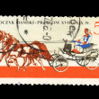 Stock Photo: POLAND - CIRC1965: stamp printed in Poland shows Koczyk Damski-przelom XVIII i XIX W J.Miller, circ1965