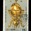 FEDERAL REPUBLIC OF GERMANY - CIRCA 1972: A stamp printed in the Federal Republic of Germany shows Globusuhr von J.Reinhold und G.Roll, circa 1972 — Lizenzfreies Foto