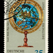 FEDERAL REPUBLIC OF GERMANY - CIRCA 1969: A stamp printed in the Federal Republic of Germany shows Heraldischen Himmelsgobus, circa 1969 — Lizenzfreies Foto
