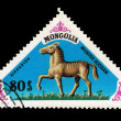 MONGOLIA - CIRCA 1977: stamp printed in Mongolia shows hipparion, circa 1977 — Stockfoto
