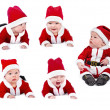 Set of six-months santa baby — Photo