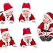 Set of six-months santa baby — Stock Photo