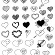 Hearts set — Stock Photo #28029325