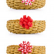 Stock Photo: Set of baskets for gifts