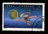 CUBA - CIRCA 1973: A stamp printed in the CUBA, shows Venus 7, circa 1973 — Stock Photo