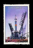 CUBA - CIRCA 1973: A stamp printed in the CUBA, shows Conete Portador Soyuz, circa 1973 — Stockfoto