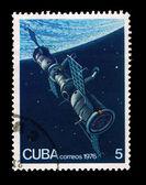 CUBA - CIRCA 1976: A stamp printed in the CUBA, shows correos 1976, circa 1976 — Foto Stock