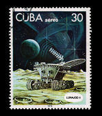 CUBA - CIRCA 1978: A stamp printed in the CUBA, shows Lunajod II, circa 1978 — Stock Photo