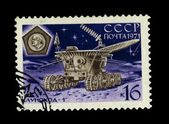USSR - CIRCA 1971: A stamp printed in the USSR, shows moon rover — Stock Photo