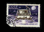 USSR - CIRCA 1971: A stamp printed in the USSR, shows moon rover Luna-17, circa 1971 — Stock Photo