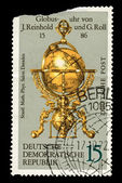 FEDERAL REPUBLIC OF GERMANY - CIRCA 1972: A stamp printed in the Federal Republic of Germany shows Globusuhr von J.Reinhold und G.Roll, circa 1972 — Stock Photo