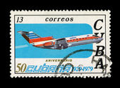CUBA - CIRCA 1979: A stamp printed in the CUBA, shows aniversario, circa 1979 — Stock Photo
