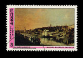 CUBA - CIRCA 1976: A stamp printed in the CUBA, shows corrreos 1976 el guadalouivir manuel barron carrillo, circa 1976 — Stock Photo