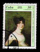 CUBA - CIRCA 1978: A stamp printed in the CUBA, shows aereo 1978 obras de artedei museo nacional, circa 1976 — Stock Photo
