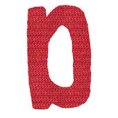 Letter D alphabet, knitted spokes structure — Stock Photo