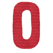 Letter O alphabet, knitted spokes structure — Stock Photo